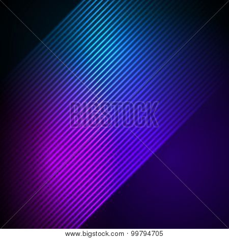 Glowing Effect Oblique Stripes Background