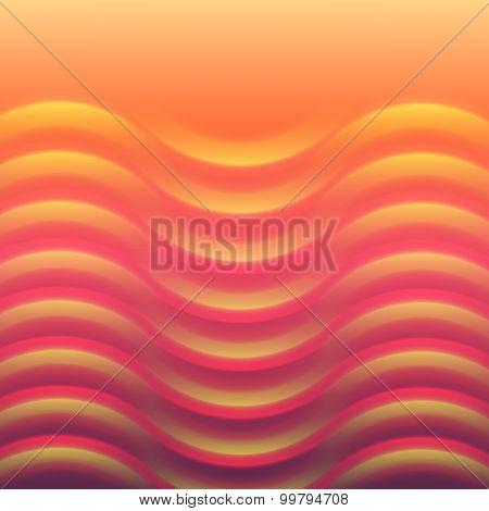 Glowing Hot Waves Effect Orange Background