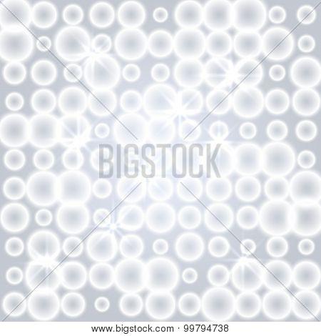 Gray Background Pattern Blur Circles And Stars