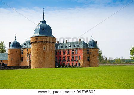 Rochefort castle in Belgium, Europe