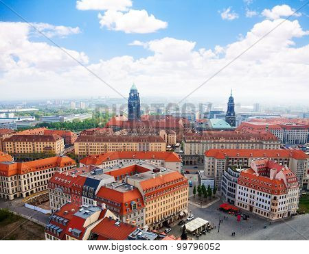 View of Dresden panorama towards Neumarkt