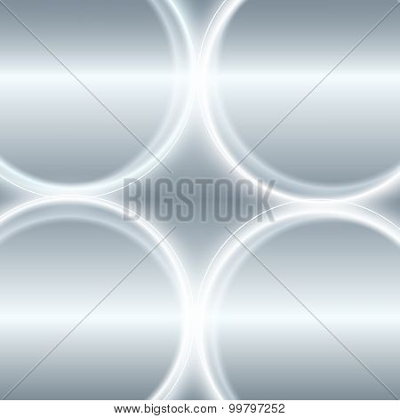 Steel Effect Glowing Circles Abstract Gray Background
