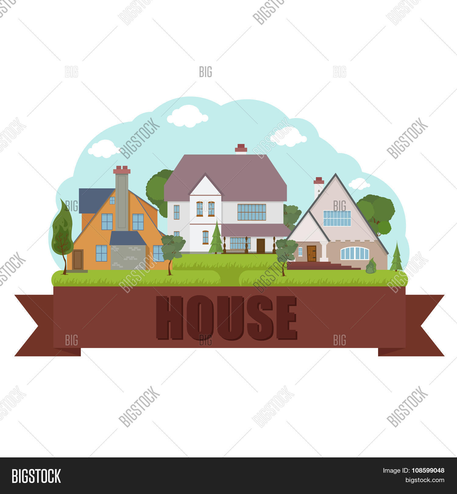 Modern Home Design Vector – Castle Home