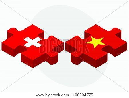 Switzerland And Vietnam Flags