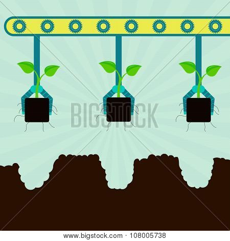 Mechanical Planting Seedlings