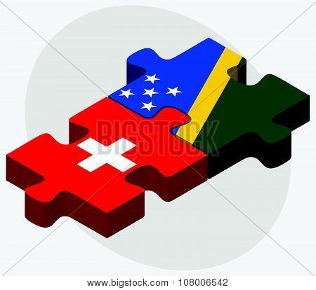 Switzerland And Solomon Islands Flags