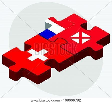 Switzerland And Wallis And Futuna Flags