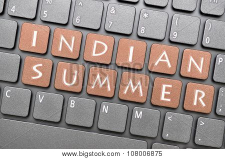 Gunmetal indian summer key on keyboard