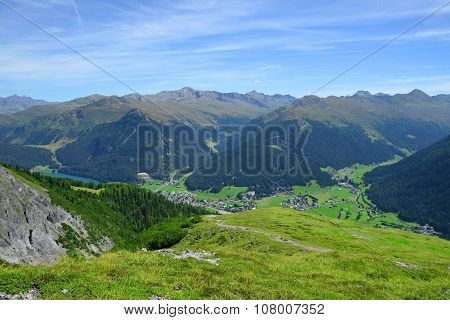 Beautiful alpine landscape with views of the Davos