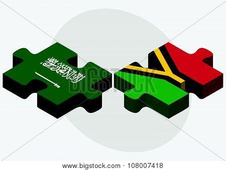 Saudi Arabia And Vanuatu Flags