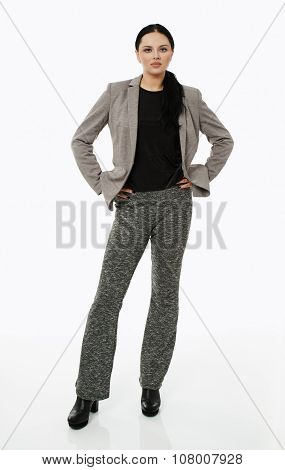 Businesswoman Full Length Portrait