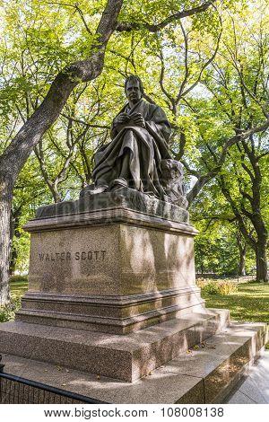 Walter Scott Monument, Central Park, New York