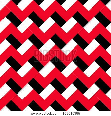 Chevron Red Black Pattern