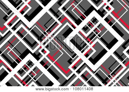 Trendy Contrast Geometric Seamless Pattern