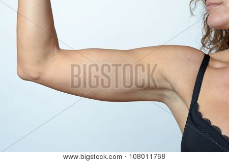Middle Aged Woman Showing Flabby Arm