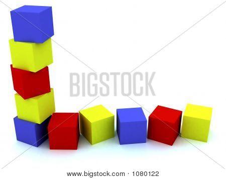 Varicoloured Child'S Blocks