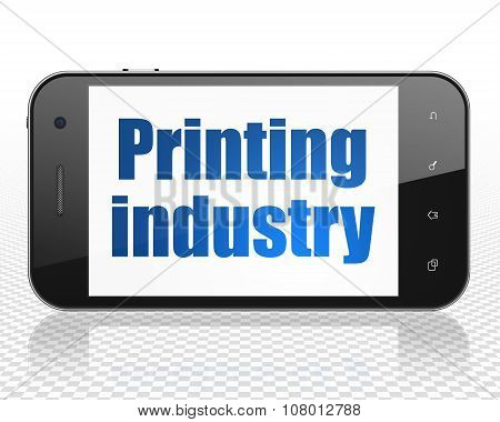 Industry concept: Smartphone with Printing Industry on display