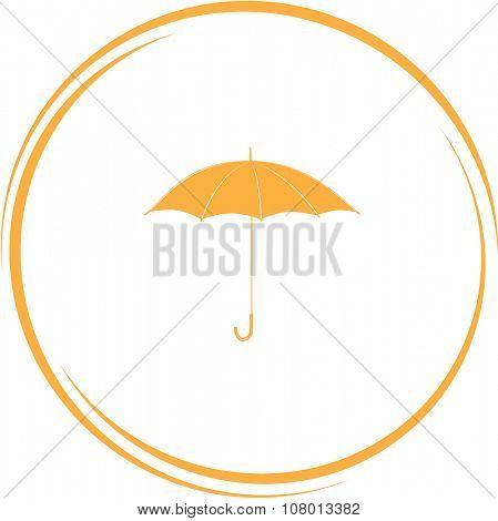 umbrella. Internet button. Raster icon.