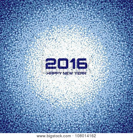 Blue New Year 2016 Snow Flake Background