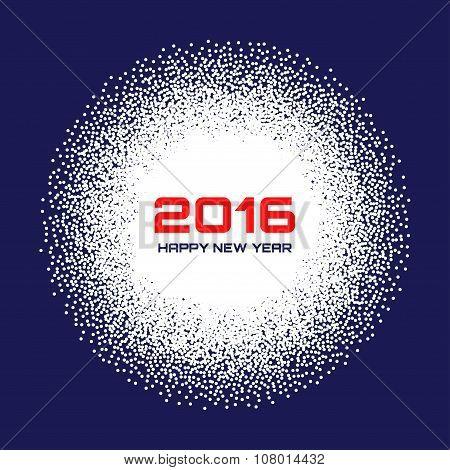 Blue- White New Year 2016  Snow Flake Background