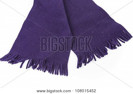 Purple Knit scarf isolated