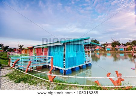 Colorful Houseboat