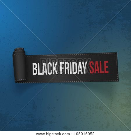 Black Friday Sale realistic Paper Ribbon
