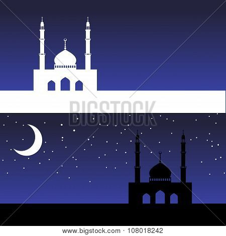 card with mosque