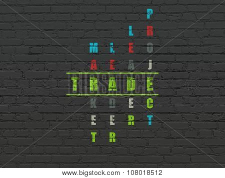 Business concept: Trade in Crossword Puzzle