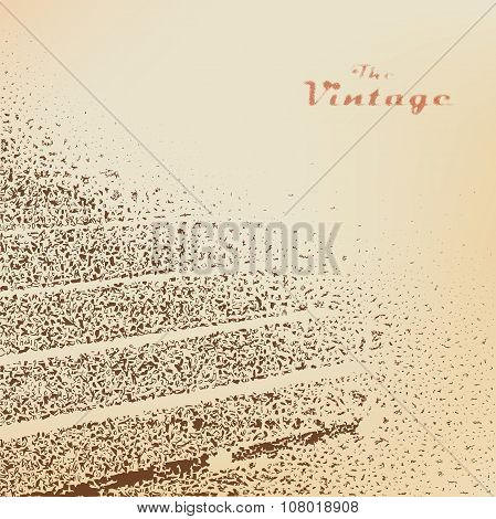Background Stairs Engraved Dots And Spots On Faded Worn Paper In