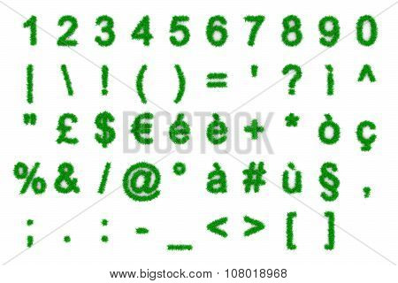 Grass Numbers And Symbols Shapes