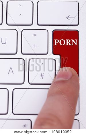 Pressing The Red Porn Button On Keyboard