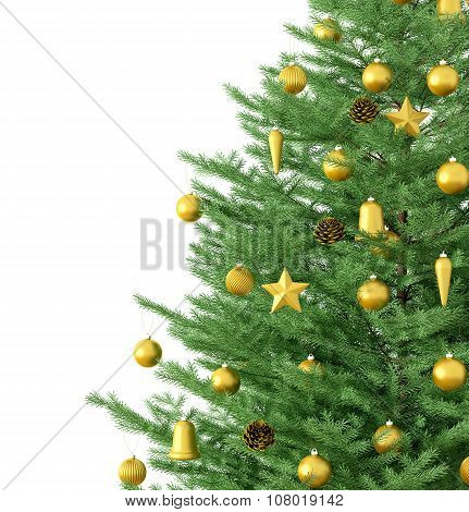 Christmas Tree Isolated 3D Rendering