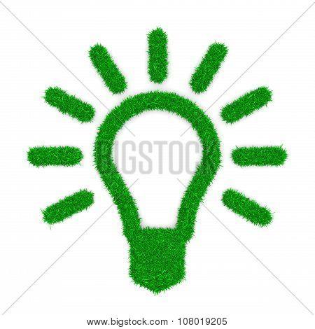 Grass Light Bulb Symbol Shape