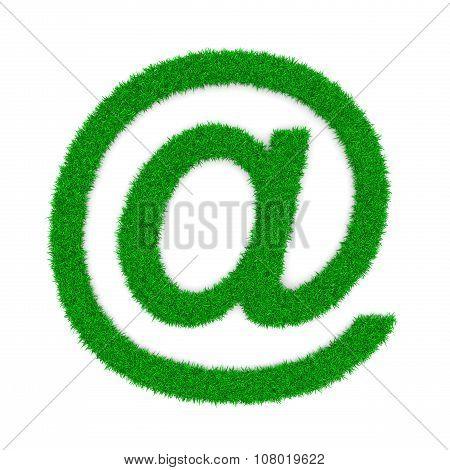 Grass Email At Symbols Shape