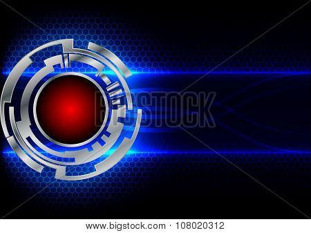 Abstract Circle Technology And Hex Background