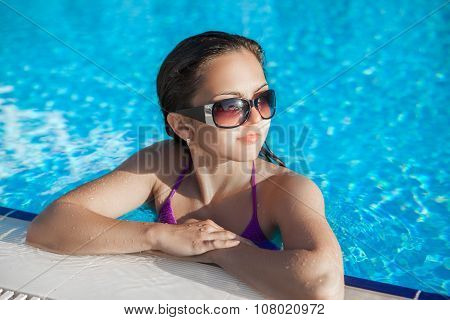 Woman In A Swimming Pool