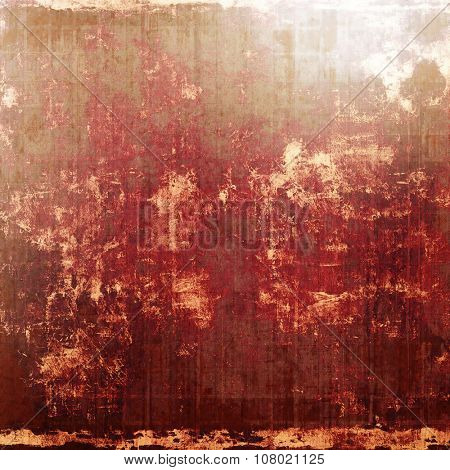 Antique grunge background with space for text or image. With different color patterns: yellow (beige); brown; red (orange); gray