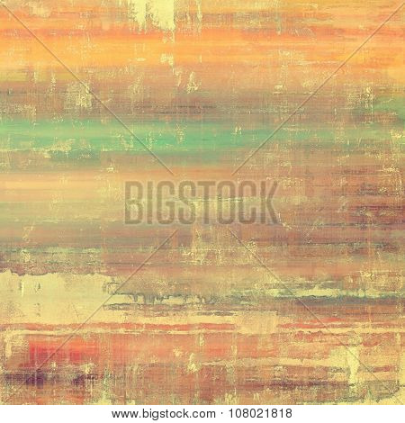Vintage Template. With different color patterns: yellow (beige); brown; red (orange); green