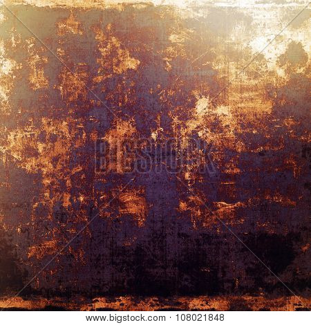Designed grunge texture or background. With different color patterns: yellow (beige); brown; purple (violet); black