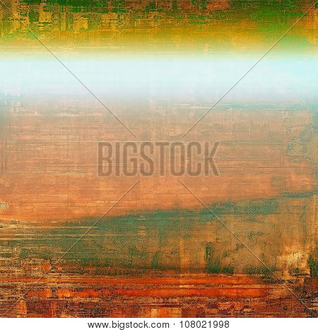 Vintage spotted textured background. With different color patterns: yellow (beige); brown; red (orange); green