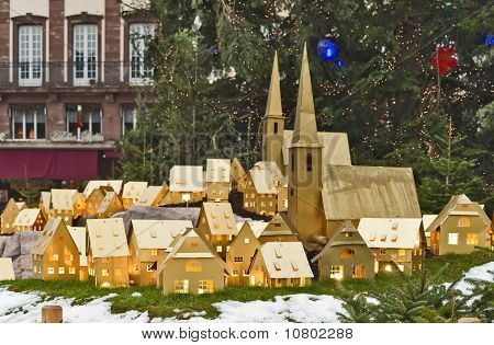 Christmas Tree And Town Maquette