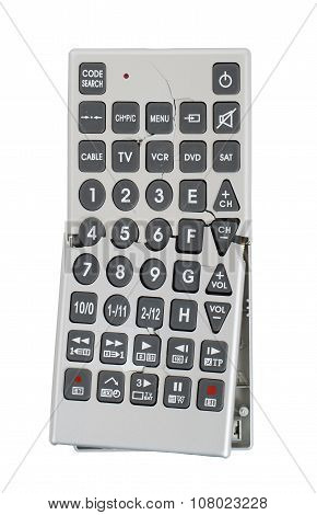 Broken Old Remote Control Tv