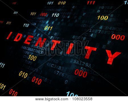 Privacy concept: Identity on Digital background