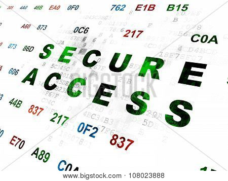 Privacy concept: Secure Access on Digital background