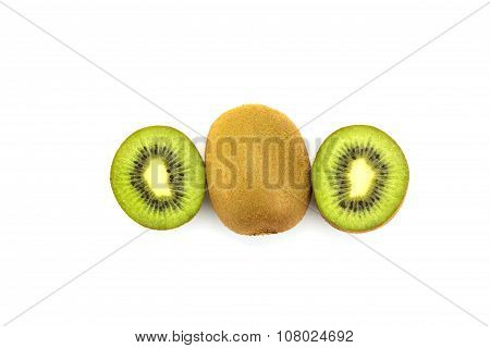Kiwi Fruit Isolated On White