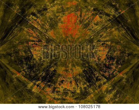 Abstract Green Background On The Basis Of Texture Shabby Paint