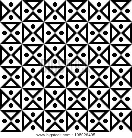 Vector modern seamless geometry pattern hourglass black and white abstract