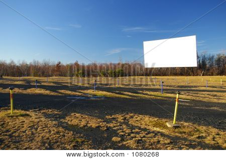 Blank Drive-In Movie Screen