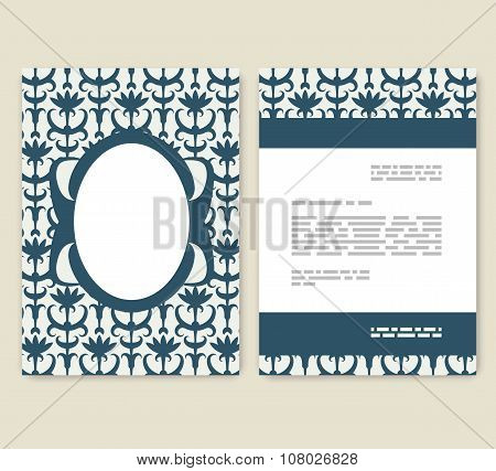 Flyer, Leaflet, Booklet Layout. Editable Design Template. A4 2-fold Brochure With Abstract Elements